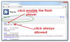 Enable Chrome Flash